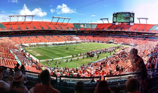 miami hurricanes sparse crowd sun life stadium