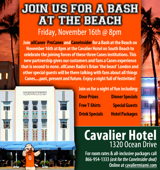 miami hurricanes allcanes procanes caneinsder south beach party