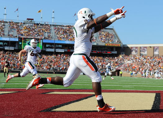 duke johnson miami hurricanes running back acc rookie of the year
