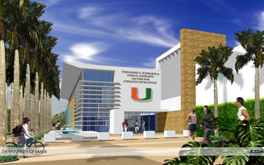 university of miami schwartz center for athletic excellence