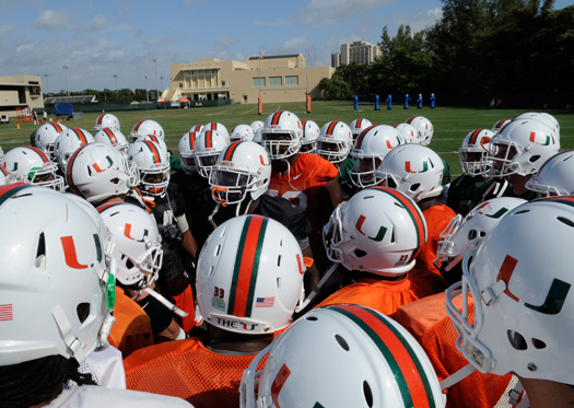 miami hurricanes greentree practice recruiting signing day the u