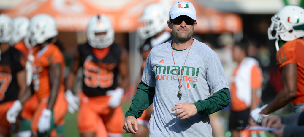 miami hurricanes defensive coordinator manny diaz the u