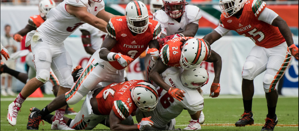 miami hurricanes football the u florida atlantic owls ACC mark richt defense brad kaaya
