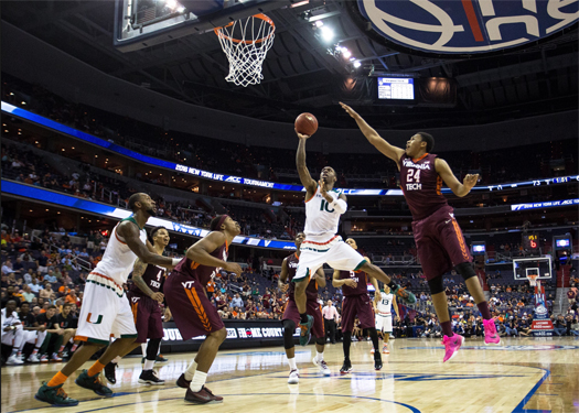 miami-hurricanes-basketball-sheldon-mcclellan-atlantic-coast-conferent-tournament-virginia-tech-hokies