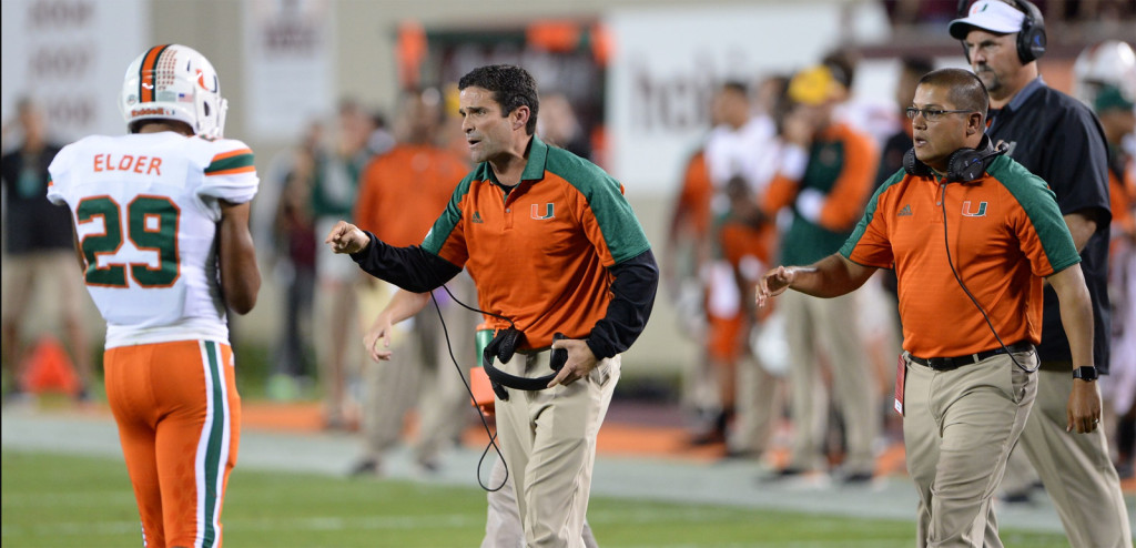 miami hurricanes football the u corn elder virginia tech hokies manny diaz defensive coordinator