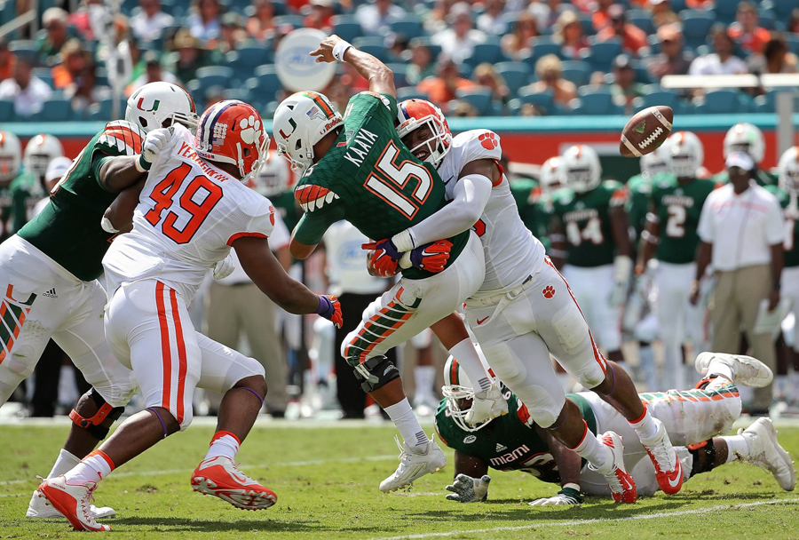 miami hurricanes football clemson tigers sun life stadium october 2015 al golden fired