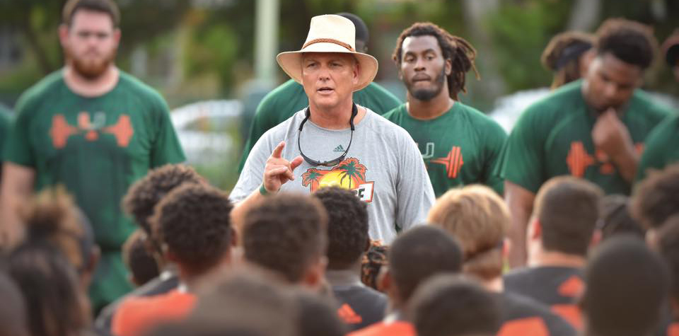 miami hurricanes football the u mark richt paradise camp